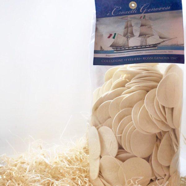 Croxetti genovesi, medaglioni di pasta di semola