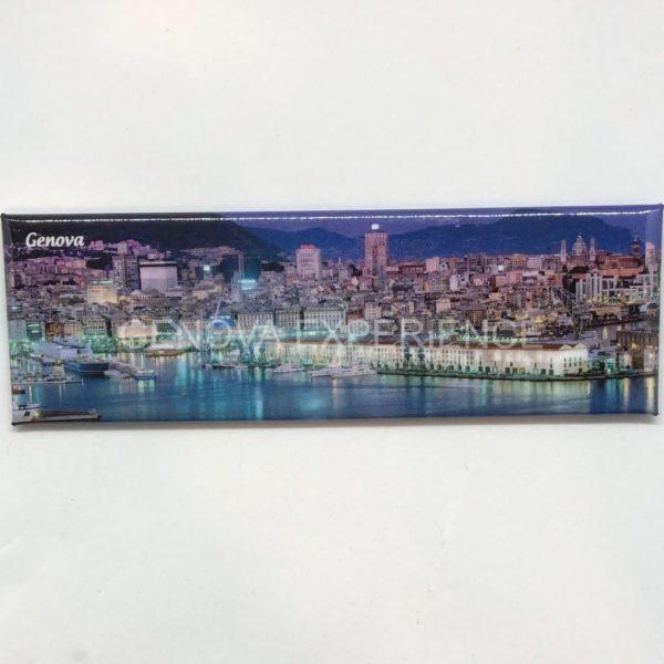 Magnete panoramico con vista su porto antico di Genova