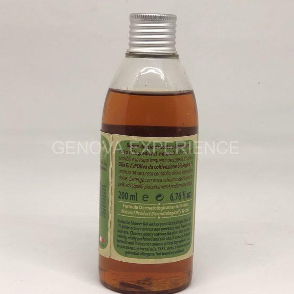 Ingredienti del bagno doccia delicato a base di olio di oliva di Essenza di Riviera