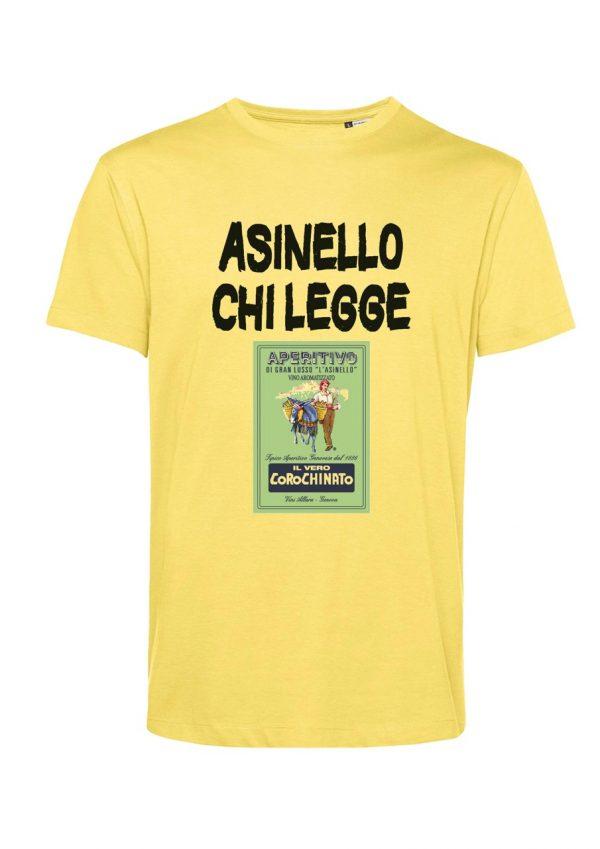 T-shirt Asinello Corochiato Asinello chi legge giallo