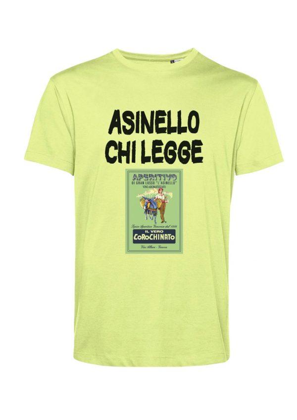 T-shirt Asinello Corochiato Asinello chi legge lime