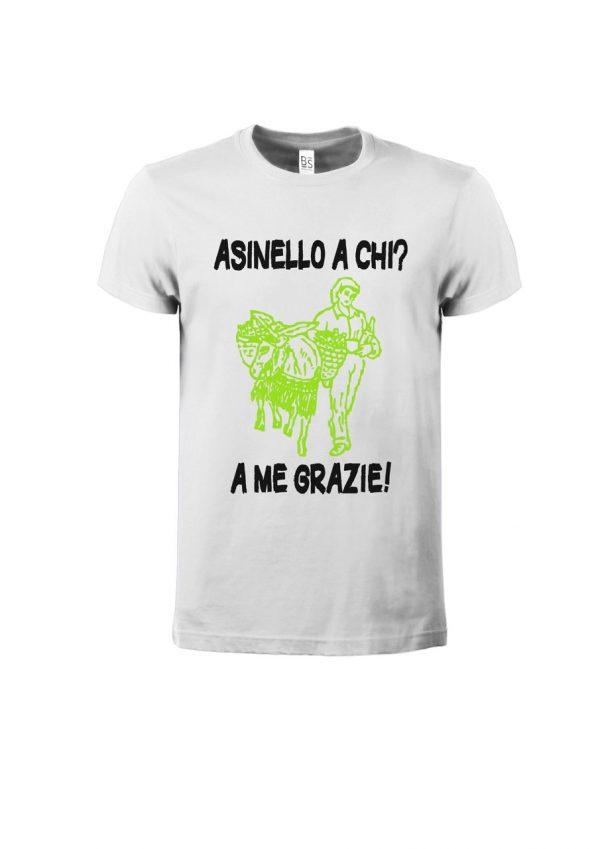T-shirt Asinello Corochiato Asinello a chi natural-bianco